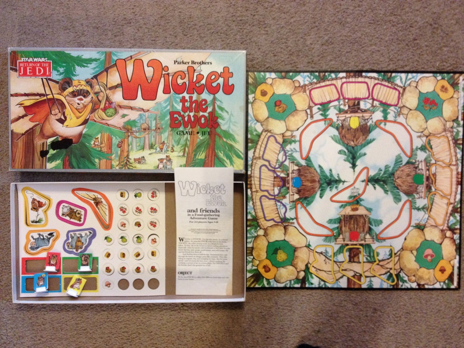 Vintage STAR WARS Wicket the Ewok Board Game Return Of The
