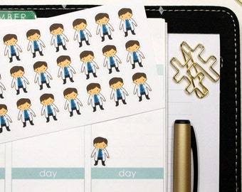 35 Boy Nurse/Doctor Stickers! Perfect for your Erin Condren Life Planner, Filofax, Plum Paper & other planner or scrapbooking! #SQ00367