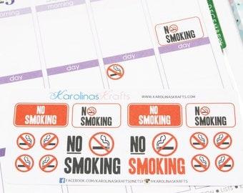 14 No Smoking Sticker Reminders! Perfect for your Erin Condren Life Planner, Filofax, Kikkik, Plum Paper and planner! #SQ00023