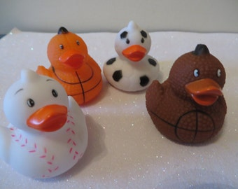 Sports Ducks - baseball, football, soccer, basketball