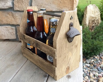 Sale 6 pack holder beer carrier wood beer caddy groomsmen 6 pack holder beer carrier wood beer caddy wood 6 pack holder pronofoot35fo Gallery