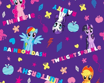 Springs Creative My Little Pony Friends with Names Cotton Woven