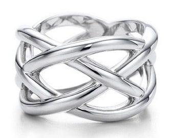 Sterling Silver Celtic Knot Braid Ring