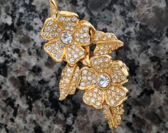 Unusual Brooch Clip Earring Combo
