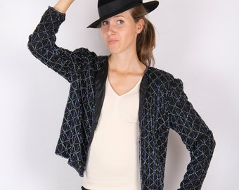 Vintage sequin jacket, blouse, beautiful wedding on New Year's Eve. shiny thing for women