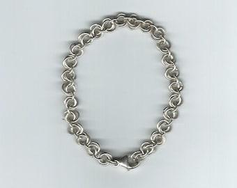 Sterling Silver Flower Bud chain bracelet