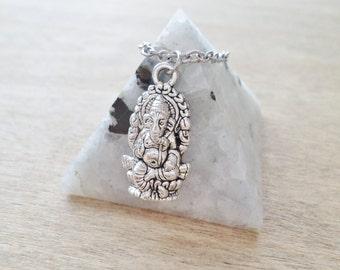 Silver Ganesha Necklace