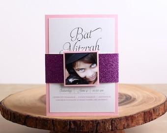 Bat Mitzvah Invitation - look 1