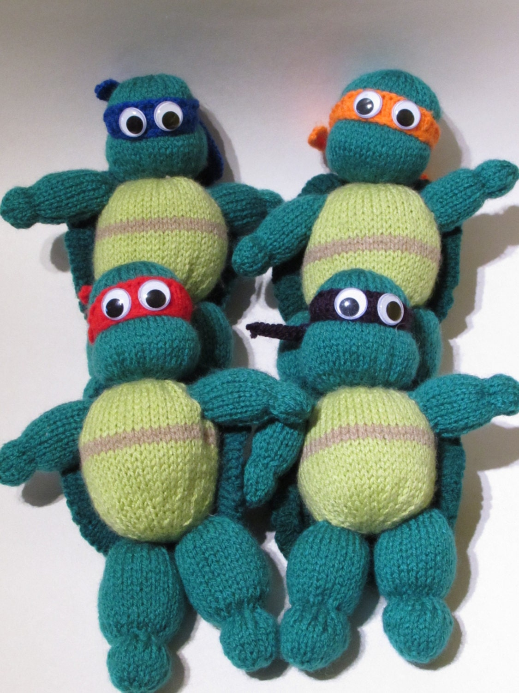 Teenage Mutant Ninja Turtles Knitting Pattern to Knit Action