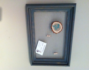 Magnetic Wire Memo board in Recycled Frame