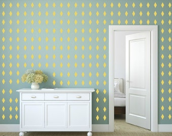 FREE SHIPPING 288 Rhombus Wall Decal Yellow ,Nursery Wall decal. Vinyl Wall Decal. Wall Sticker. Kids Room Wall Decal.