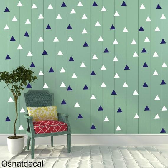 FREE SHIPPING Wall Decal Triangle Blue & White , Each Kit 238. Wall Sticker. Nursery Wall Art.Geometric Wall Decal Kids Wall Decal