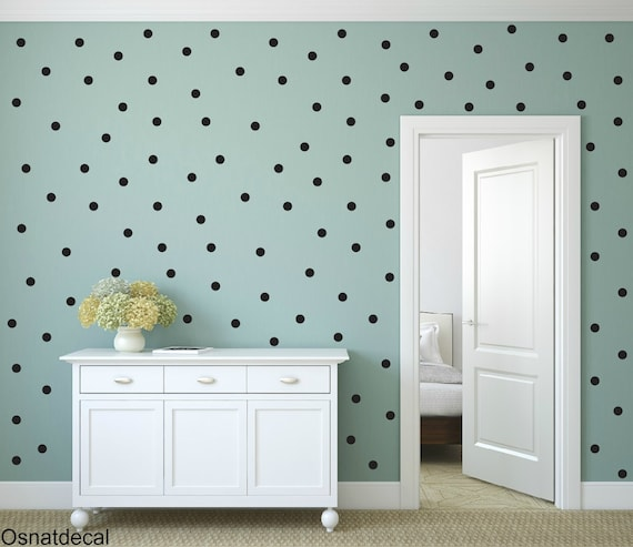 FREE SHIPPING Black Dots, Larg Kit Contains: 208 . Wall Decal  With Home Decor Nursery Wall Sticker Art Digital