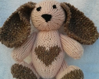 Plush Heart Knitting Pattern : Items similar to Lovable Bunny made to order on Etsy