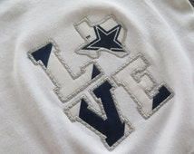 Dallas Cowboys Embroidered Long Sleeve baby gift, Dallas Cowboy Baby, Dallas Cowboy kids