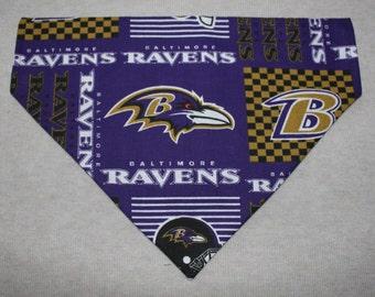 Baltimore Ravens Dog Bandanna in Small, Medium, or Large