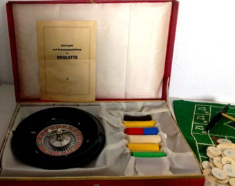 1950-60s Vintage German Roulette Table Game