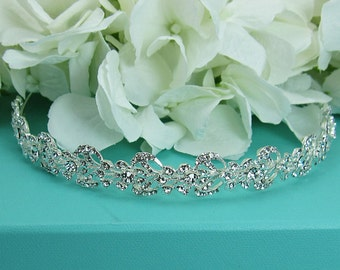 Bridal Headband, Swarovski crystal rhinestone wedding headband, bridal wedding hair accessories, wedding headband headpiece, tiara 210705078