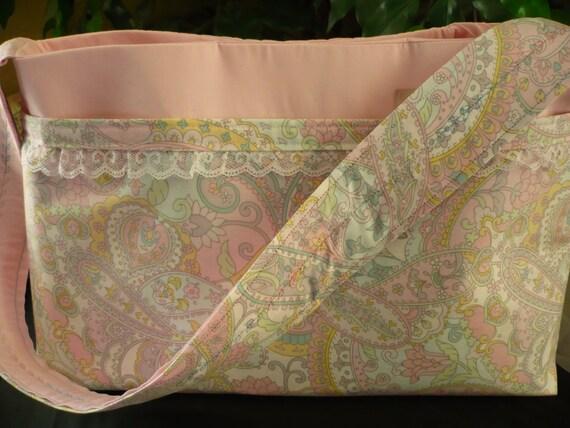 "Alexander Henry ""Storybrook Paisley"" Pink Purse Diaper Bag"