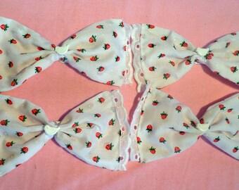 Sweet white lace LOLITA mori strawberry doves HAIR BOW