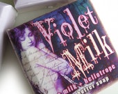 SALE Violet Milk shea butter soap, rice milk and heliotrope, vegan, with a sweet creamy, powdery fragrance