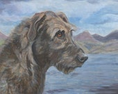 Great Dog Of Ireland (Irish Wolfhound) Original Oil Painting