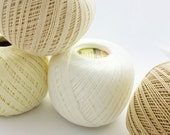 crochet cotton white size 10 mercerized yarn ivory knitting thread YARNART 4 balls