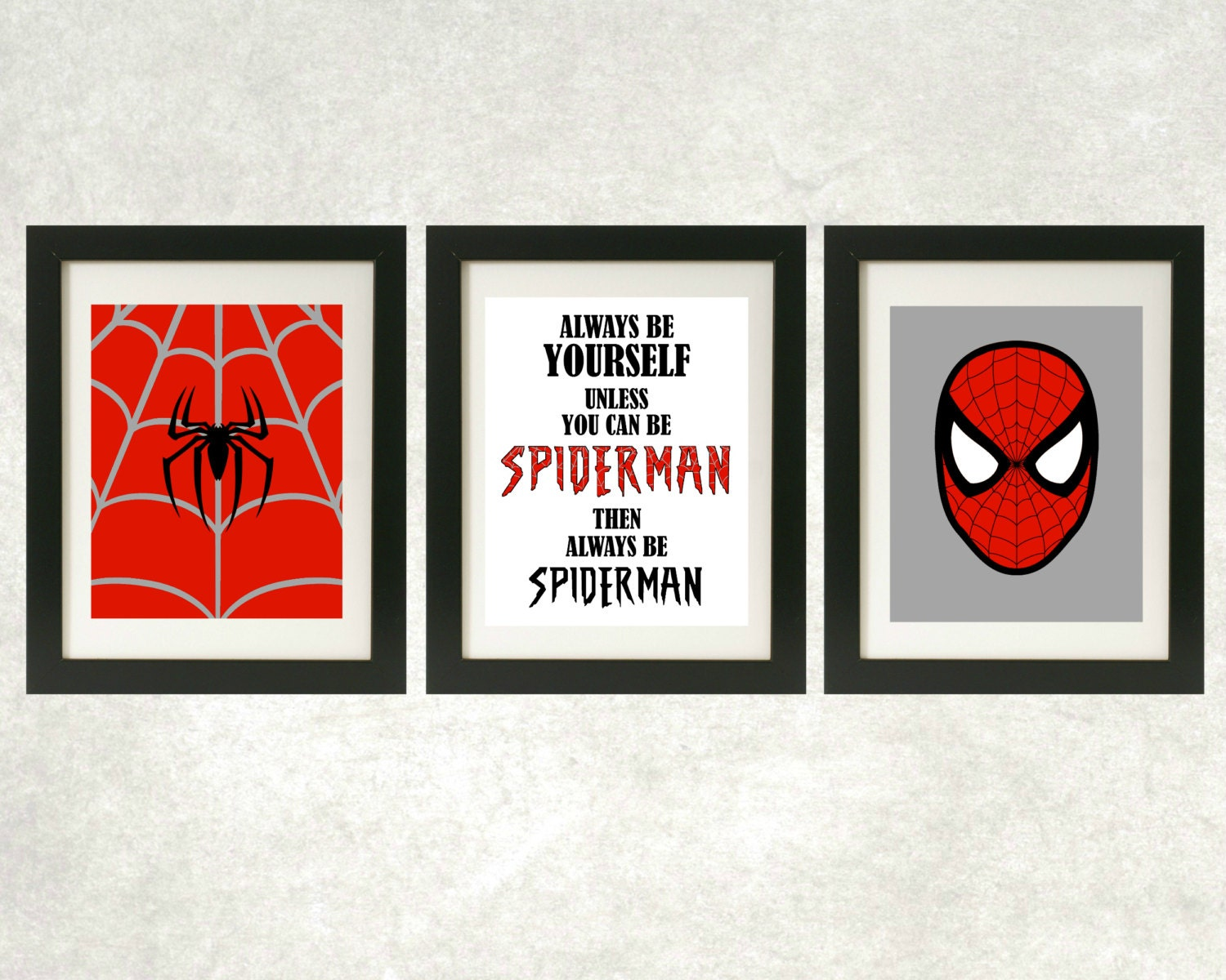 always be spiderman prints spiderman wall art superhero. Black Bedroom Furniture Sets. Home Design Ideas