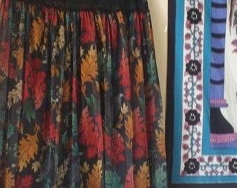 Bohemian Skirt / Tube Top Dress/ Peasant Skirt/ Wiccan Clothing