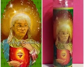 Golden Girl Sophia prayer candle