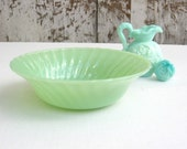 Vintage Fire King Jadeite Bowl, Jadeite Shell Swirl Bowl, Anchor Hocking Jadeite Bowl, Retro Kitchen
