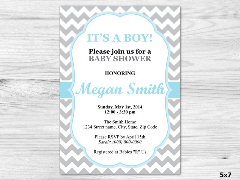 its a boy baby shower invitation diy printable custom