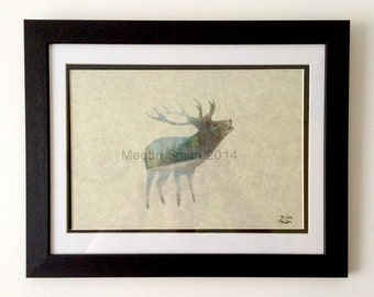 The Stag - a4 print.