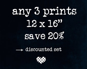"discounted set - any three 12 x 16"" prints of your choice - fine art photography - home decor - wall decor - wall art"