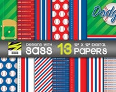 Buy 2, Get 1 FREE!, Digital Paper, Los Angeles Dodgers, Baseball, MLB, World Series, Jamberry, Playoffs, Red, White, Blue, Dodgers