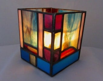 Atmospheric Stained Glass Candle Box