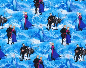 Disney Frozen Character Scenic Fabric - by the Yard