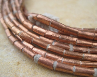 Copper Tube Beads From the Villages of Ethiopia! African Metal Beads - Copper Spacers - Wholesale African Beads - Copper Beads 271