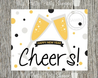 8x10 New Year's Eve CHEERS Printable Sign / Picture *INSTANT DOWNLOAD*