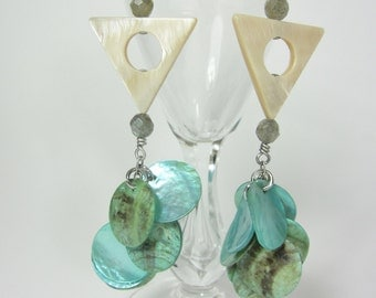 Funky Cool and Unusual Earrings, Long Eclectic Earrings, Hippie Chic Jewelry
