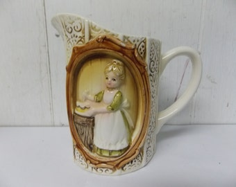 1978 Sears and Roebuck Country Coordinates Cottage Cream Pitcher