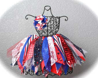 Girls Fourth of July Tutu / Patriotic Tutu / 4th of July Tutu / July 4th Tutu / Red White and Blue Tutu / Stars and Stripes Tutu