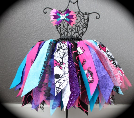 Monster high fabric tutu purple and hot pink by for Monster themed fabric