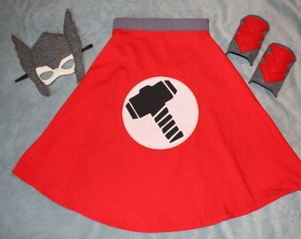 Thor Cape, Mask and Arm Cuffs