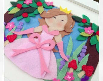 Princess pictures frame handmade