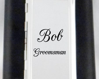 Personalized Cigarette Case and 6 oz. Flask-ONE to TWO Sets. Holds your favorite smokes and drink!  Bridal Party and Groomsmen Gifts!