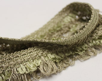 Pale Sage Loop Fringe- Decorative Trim 803