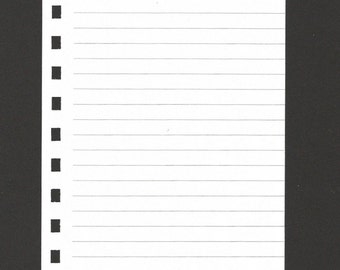 Pre-punched lined notepaper