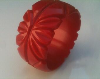 heavy carved red bangle bracelet , wide Bangle Bracelet,carved plastic bangle bracelet,carved bangle bracelet