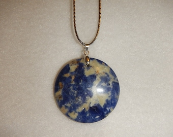 Blue Sodalite pendant necklace (JO98)
